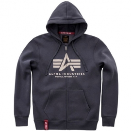 Alpha Basic Zip Hoody, repl. grey
